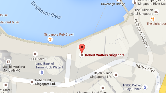 Singapore Robert Walters pin location on map