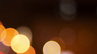 Orange and yellow bokeh