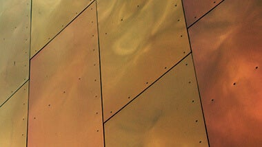Brassy copper panels